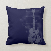 Guitar Graphic Blue Pillows