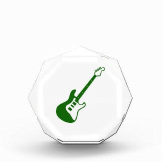 Guitar graphic green white simple acrylic award