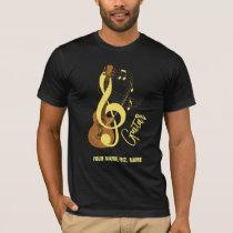 Guitar Graphic Musician Music Theme T-Shirt
