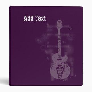 Guitar Graphic Purple Custom Binders