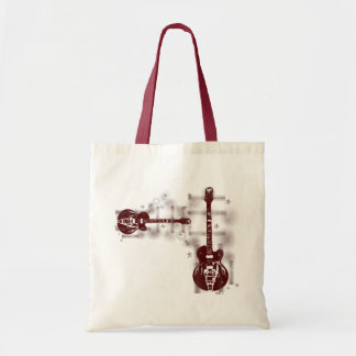 Guitar Graphic Red Bag