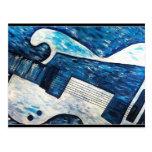 Guitar greetings post cards