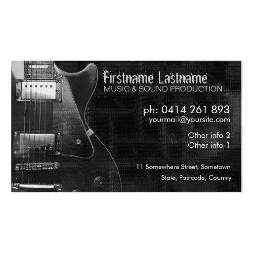 """GUITAR """"GREyAZ"""" Business card"""