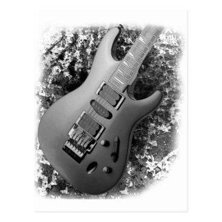 Guitar grunge postcard