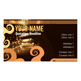 """GUITAR """"GrungeOrangey"""" Business card"""