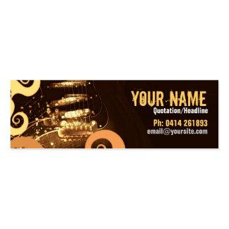 "GUITAR ""GrungeOrangey"" Profile card Business Card"