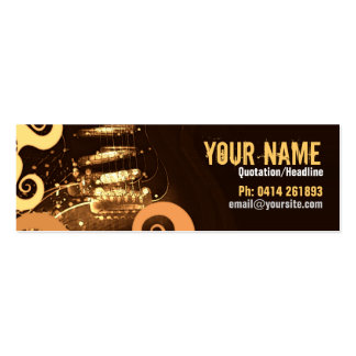 """GUITAR """"GrungeOrangey"""" Profile card Double-Sided Mini Business Cards (Pack Of 20)"""