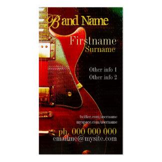 GUITAR GrungeRed Vertical Business card