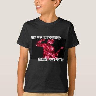 Guitar Guitarist Man Fire Silhouette T-Shirt