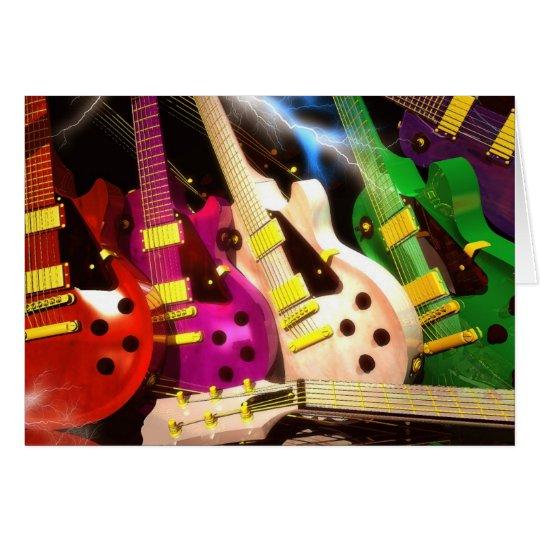 guitar, guitars, electric,lightning,rock,music, card