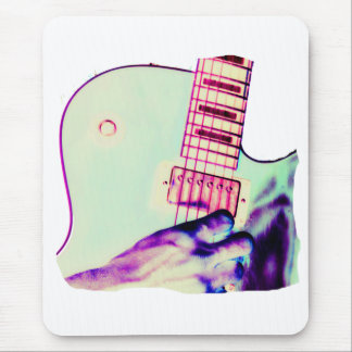 Guitar Hand Psychadelic Green Purple Pink Mouse Pad