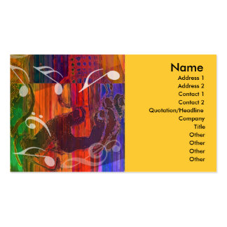 Guitar Hands Abstract Vivid Profile Card Business Card Templates