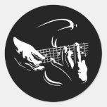 guitar-hands-DKT Classic Round Sticker