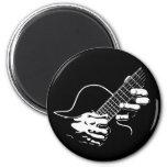 Guitar Hands II 2 Inch Round Magnet