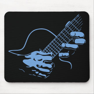 Guitar Hands II -blu Mouse Pad