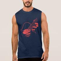 Guitar Hands II -red Sleeveless Shirt