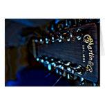Guitar HDR Photograph Card