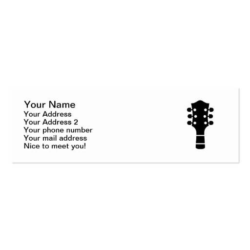 Guitar head business card templates