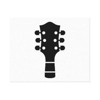 Guitar head gallery wrapped canvas
