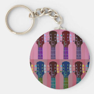Guitar Headstock Pop Art Keychains