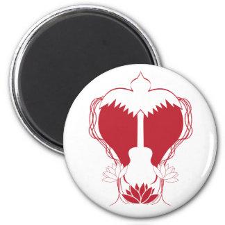 Guitar Heart Spirit 2 Inch Round Magnet