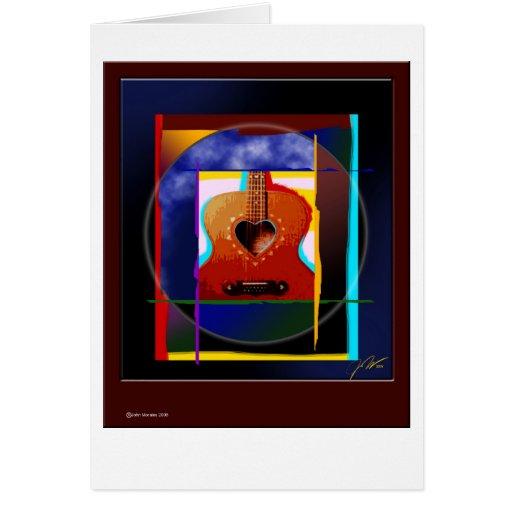guitar_heart tarjeta de felicitación