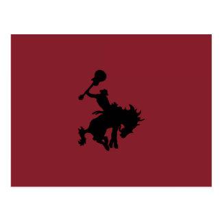 Guitar Hero rodeo cowboy on horseback Postcard