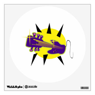 guitar hybrid headstock up purple.png wall sticker