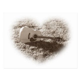 GUITAR: I Love Guitars Post Card