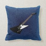 Guitar illustration pillow
