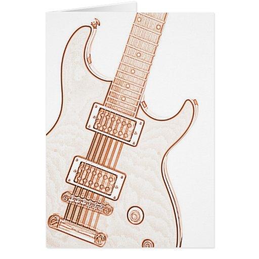 Guitar Image Greeting Cards