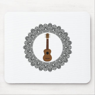 guitar in a round mouse pad