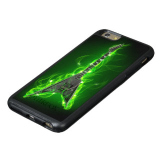 Guitar in Green Flames OtterBox iPhone 6 Plus Case