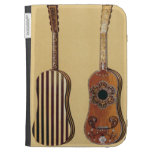 Guitar inlaid with mother-of-pearl, from 'Musical Kindle 3G Cases