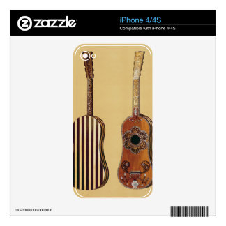 Guitar inlaid with mother-of-pearl, from 'Musical iPhone 4S Skins
