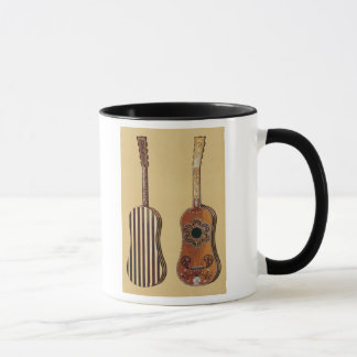 Guitar inlaid with mother-of-pearl, from 'Musical Mug