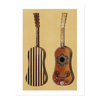 Guitar inlaid with mother-of-pearl, from 'Musical Postcard