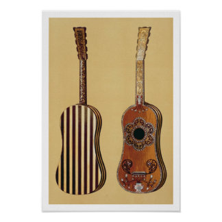 Guitar inlaid with mother-of-pearl, from 'Musical Poster