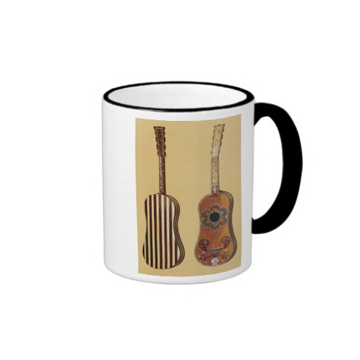 Guitar inlaid with mother-of-pearl, from 'Musical Ringer Coffee Mug