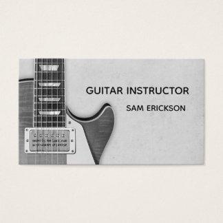 guitar instructor business business card