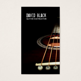 Guitar Instructor Music Business Card