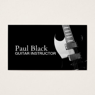 Guitar Instructor Music Instruments Business Business Card