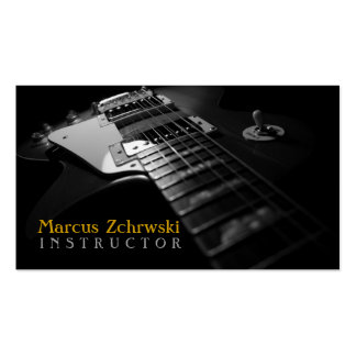 Guitar Instructor Music Instruments Business Card Templates