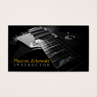 Guitar Instructor, Music, Instruments Business Card
