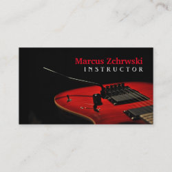 Guitar Instructor Music Instruments Business Card