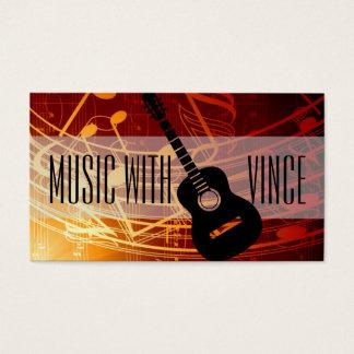 Guitar Instructor Music Studio Business Card