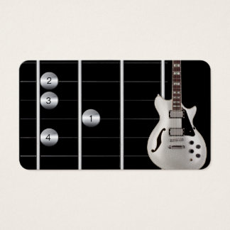 guitar instructor's business card