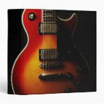 Guitar Instruments 3 Ring Binder