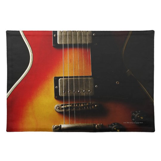 Guitar Instruments Cloth Placemat