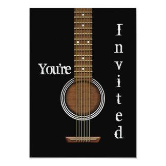GUITAR INVITATION - Acoustic Black - Multi-Purpose
